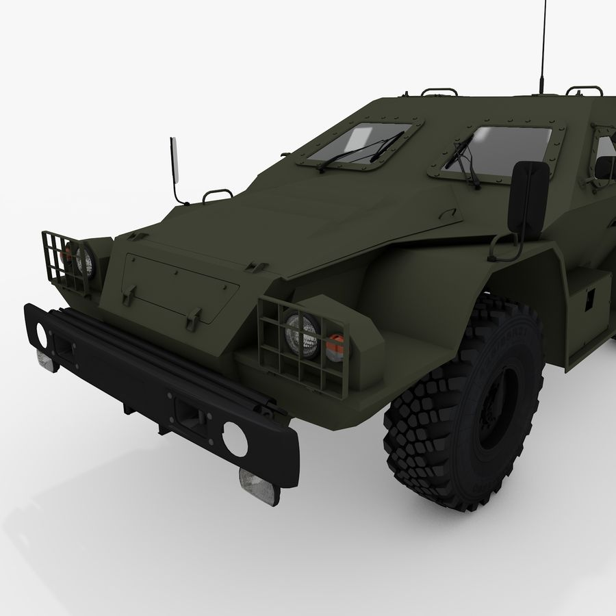 КАМАЗ-43269 Дозор 2009 royalty-free 3d model - Preview no. 11