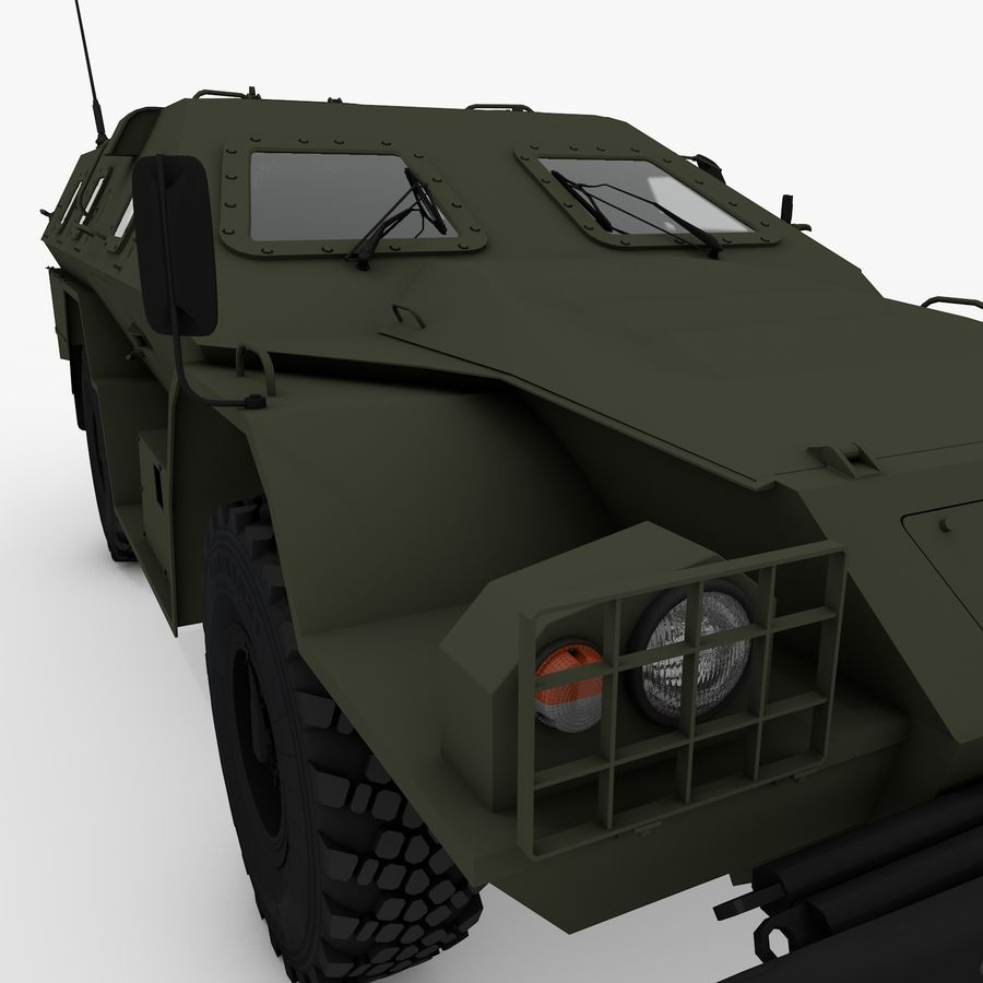 КАМАЗ-43269 Дозор 2009 royalty-free 3d model - Preview no. 16