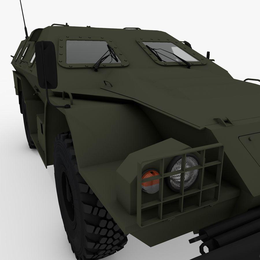 KAMAZ-43269 Dozor 2009 royalty-free 3d model - Preview no. 16