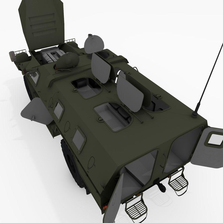 KAMAZ-43269 Dozor 2009 royalty-free 3d model - Preview no. 32