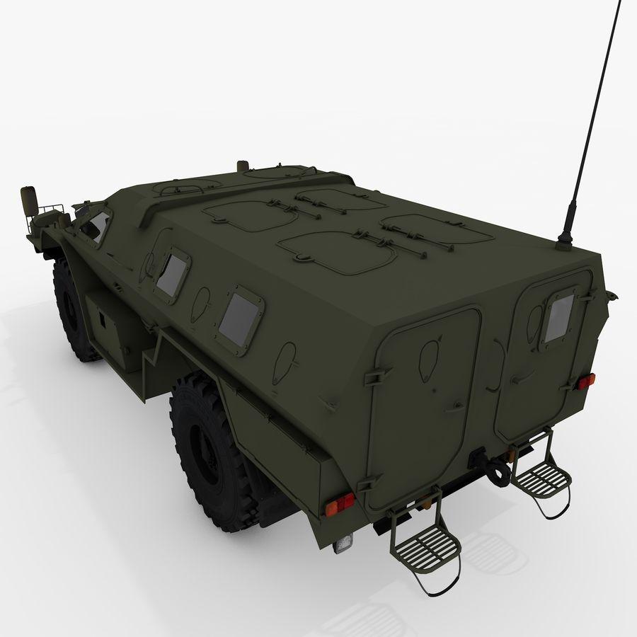 KAMAZ-43269 Dozor 2009 royalty-free 3d model - Preview no. 10