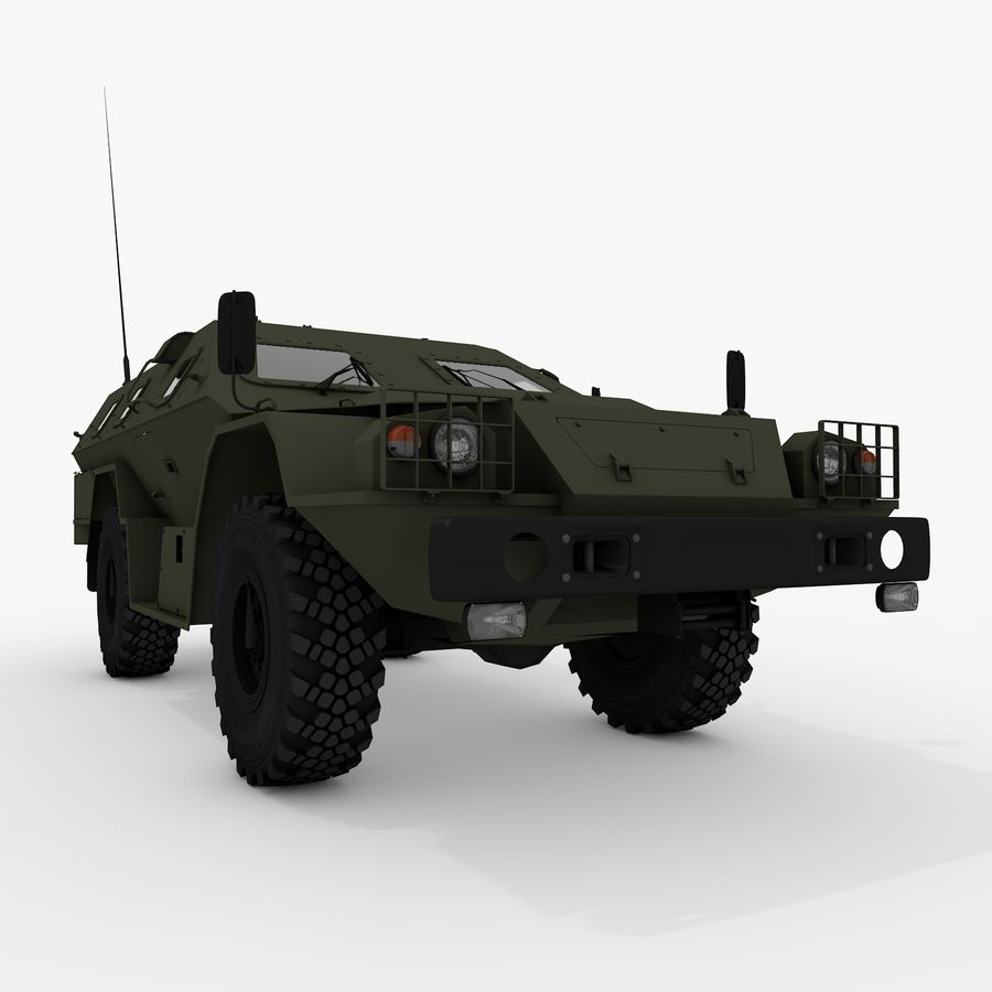КАМАЗ-43269 Дозор 2009 royalty-free 3d model - Preview no. 7