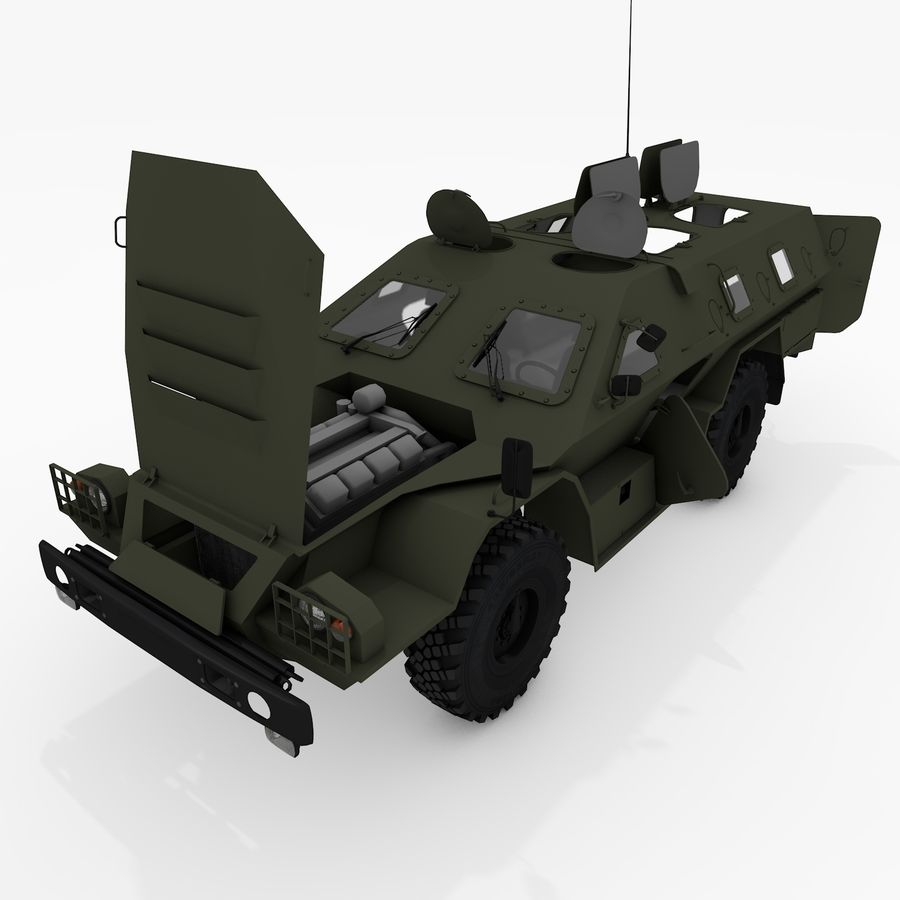 КАМАЗ-43269 Дозор 2009 royalty-free 3d model - Preview no. 3