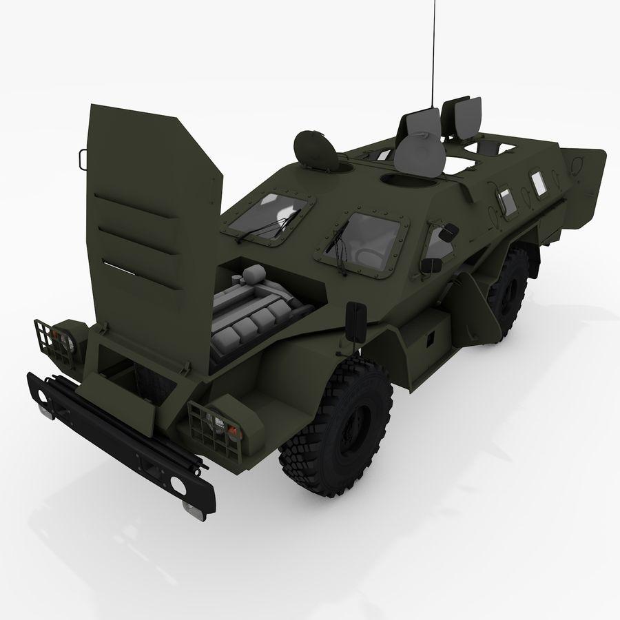 KAMAZ-43269 Dozor 2009 royalty-free 3d model - Preview no. 3