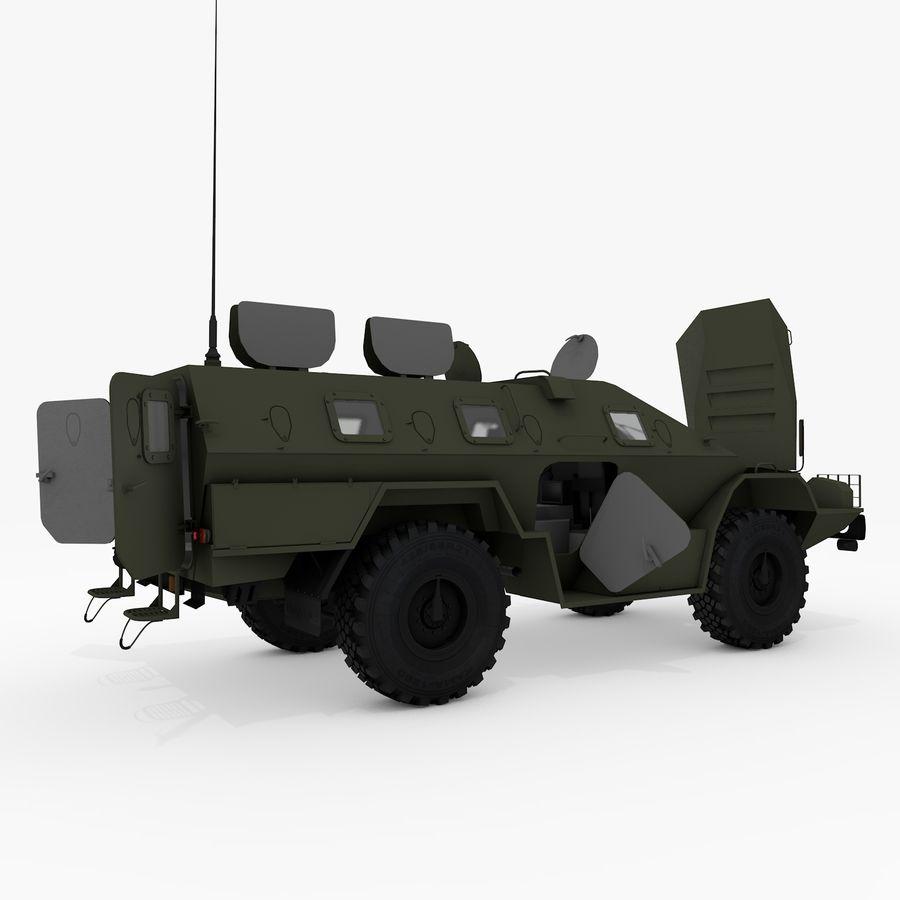 KAMAZ-43269 Dozor 2009 royalty-free 3d model - Preview no. 28