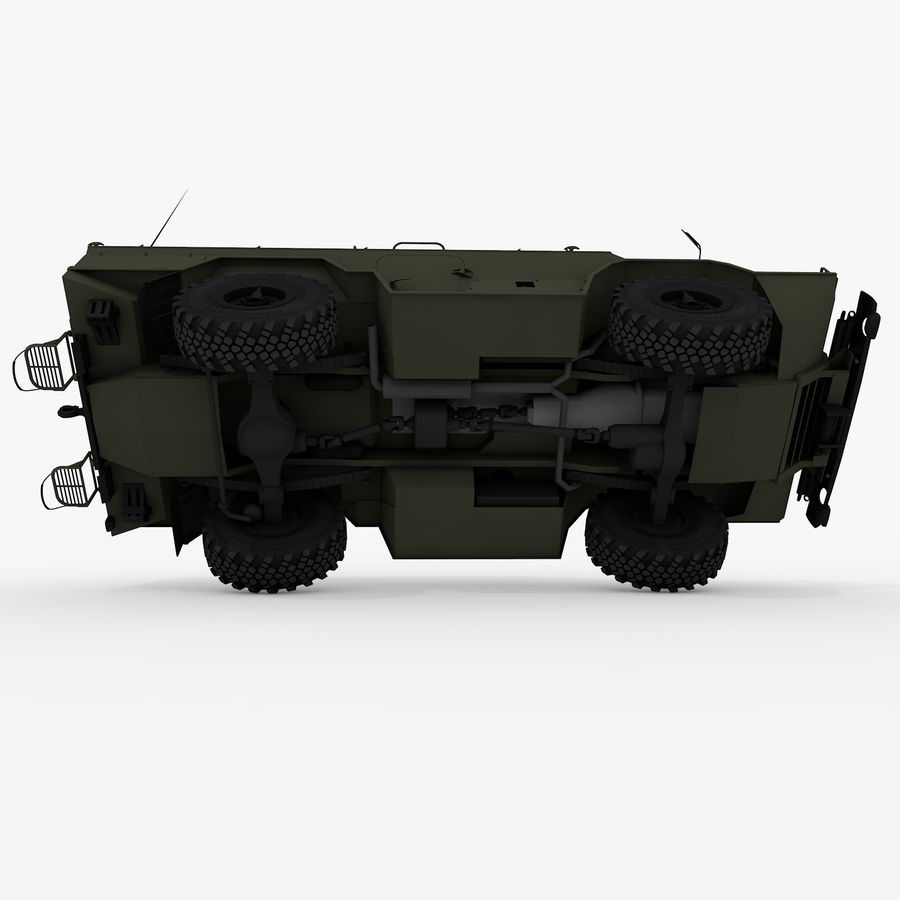 KAMAZ-43269 Dozor 2009 royalty-free 3d model - Preview no. 18