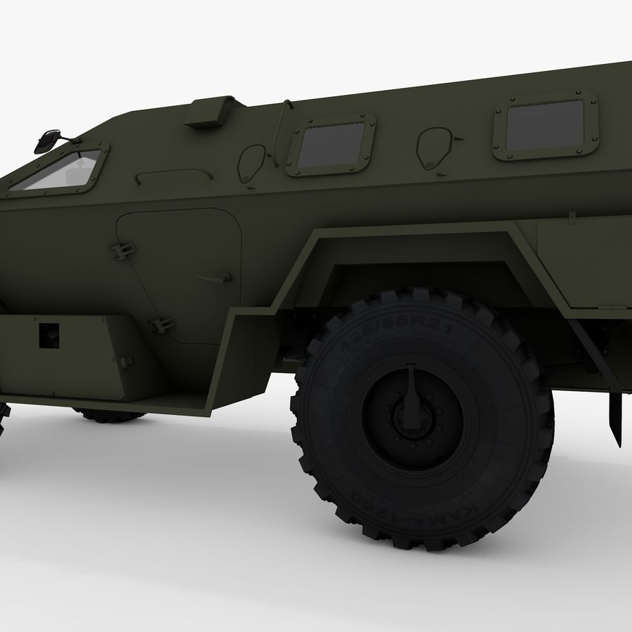 КАМАЗ-43269 Дозор 2009 royalty-free 3d model - Preview no. 12