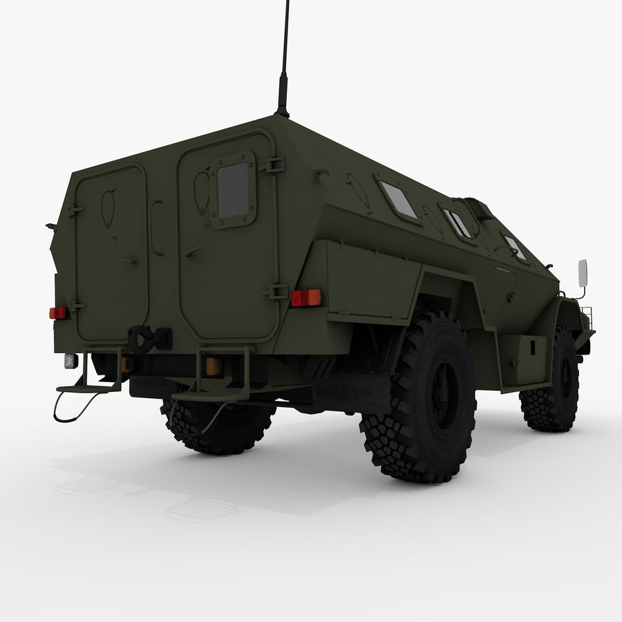 КАМАЗ-43269 Дозор 2009 royalty-free 3d model - Preview no. 9