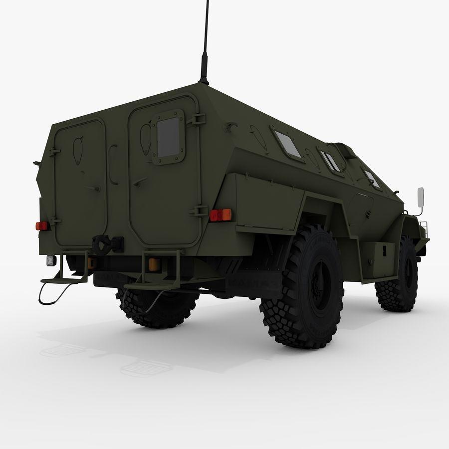 KAMAZ-43269 Dozor 2009 royalty-free 3d model - Preview no. 9