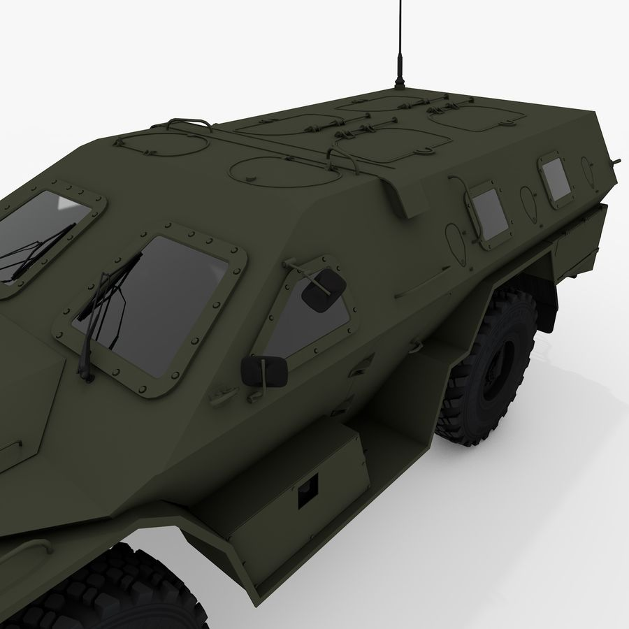 КАМАЗ-43269 Дозор 2009 royalty-free 3d model - Preview no. 13