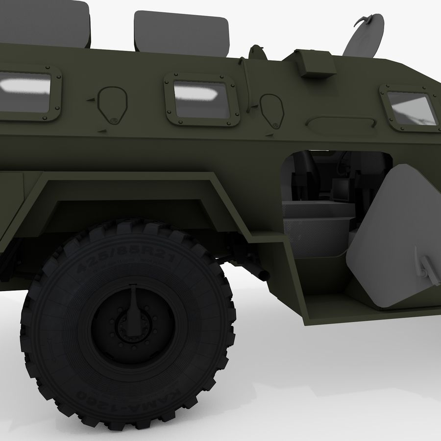 КАМАЗ-43269 Дозор 2009 royalty-free 3d model - Preview no. 34