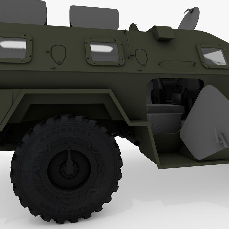 KAMAZ-43269 Dozor 2009 royalty-free 3d model - Preview no. 34