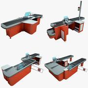 Cash Counter shop Collection 3d model