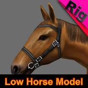 Paard Tawny (getuigd) 3d model