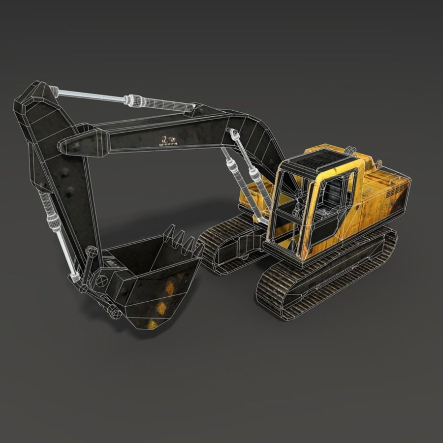 Excavator royalty-free 3d model - Preview no. 13