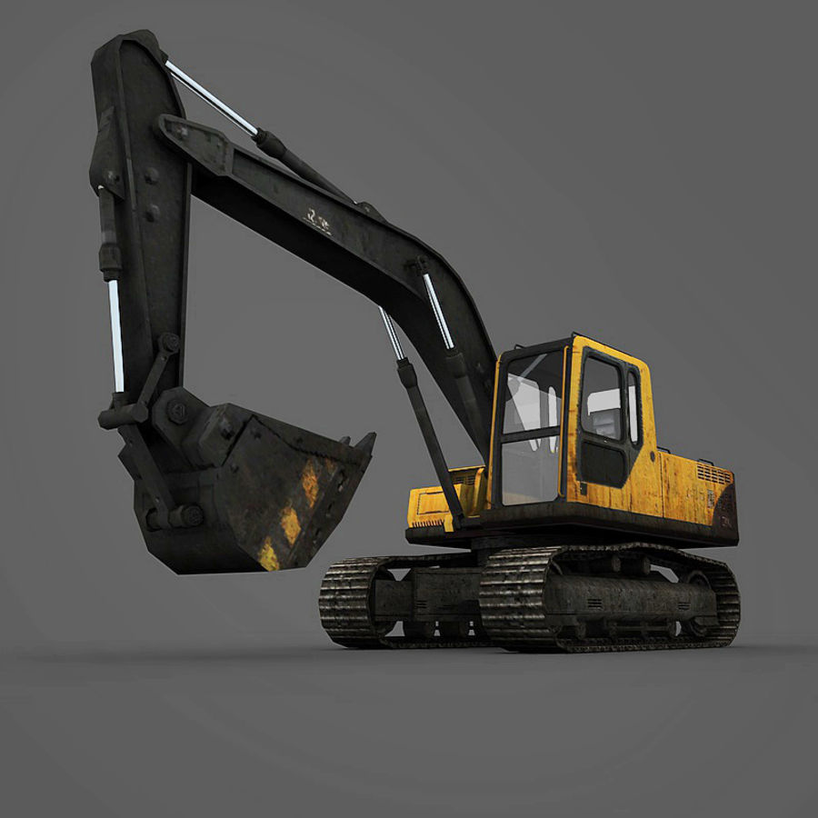 Excavator royalty-free 3d model - Preview no. 7