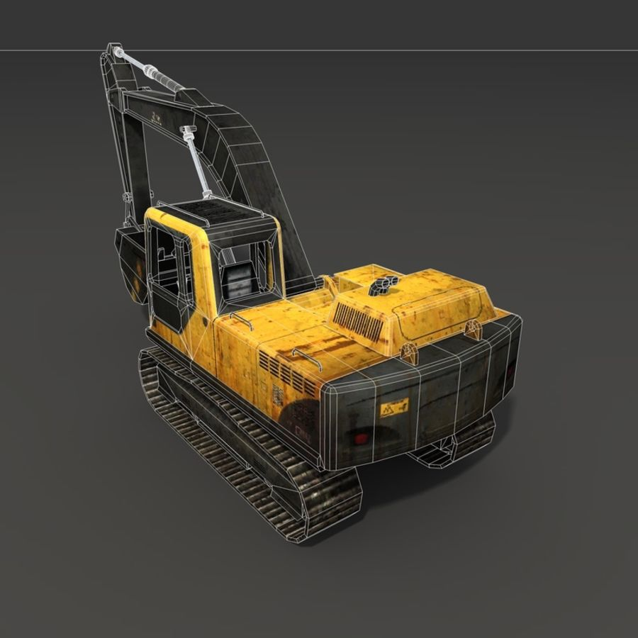 Excavator royalty-free 3d model - Preview no. 17