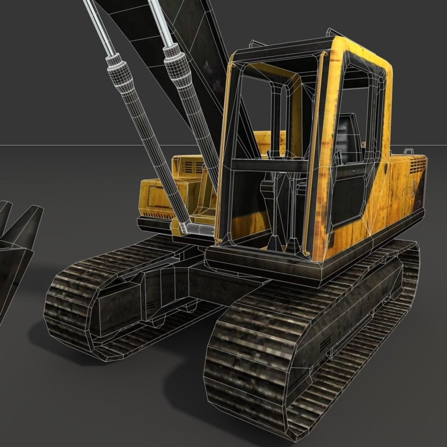 Excavator royalty-free 3d model - Preview no. 16