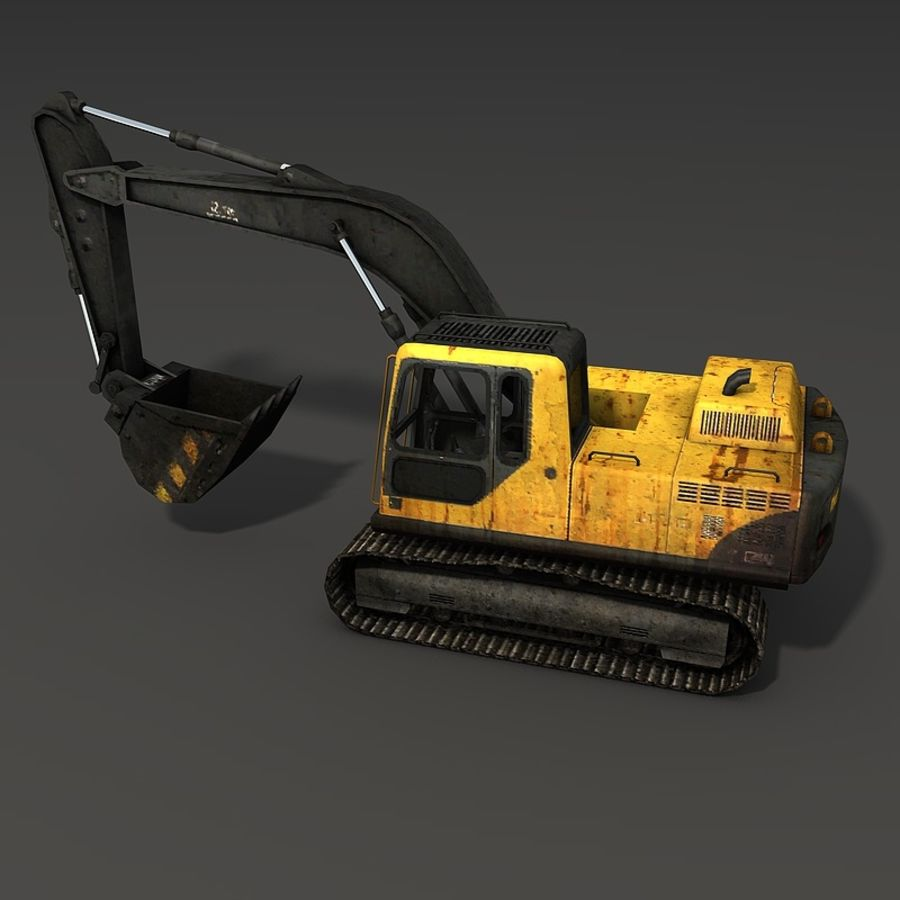 Excavator royalty-free 3d model - Preview no. 10