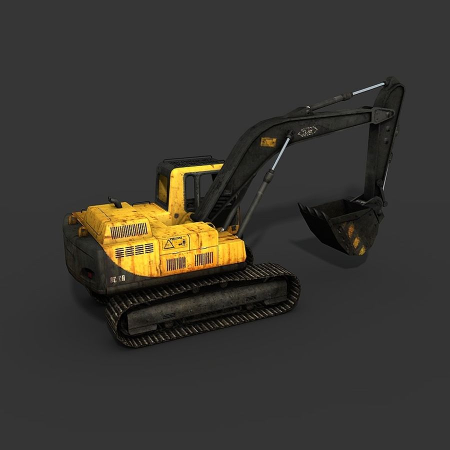 Excavator royalty-free 3d model - Preview no. 11