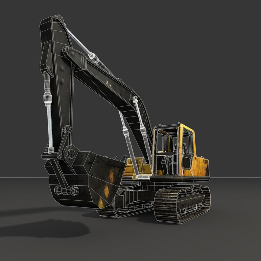 Excavator royalty-free 3d model - Preview no. 15