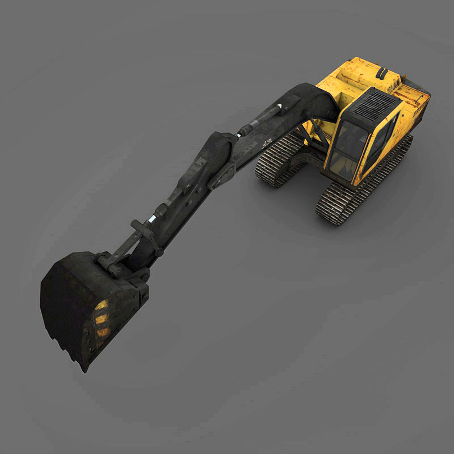 Excavator royalty-free 3d model - Preview no. 9