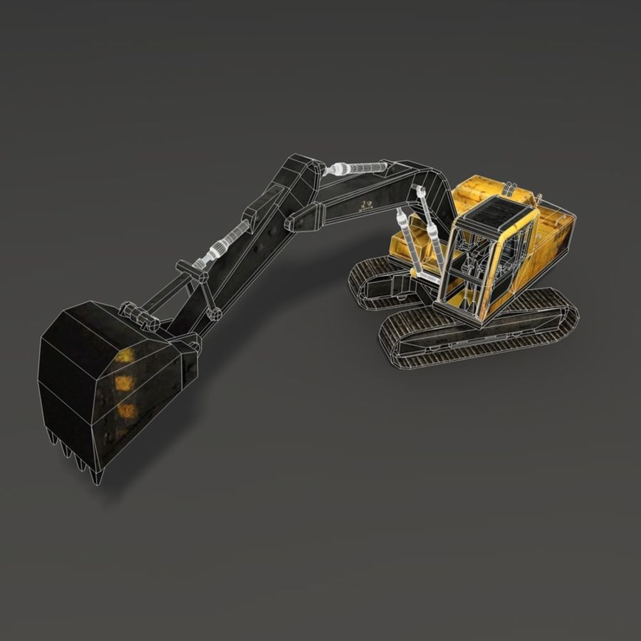Excavator royalty-free 3d model - Preview no. 14
