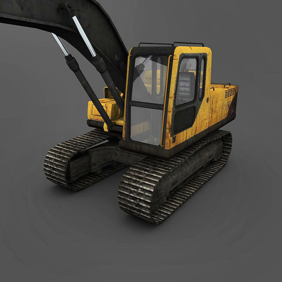 Excavator royalty-free 3d model - Preview no. 12