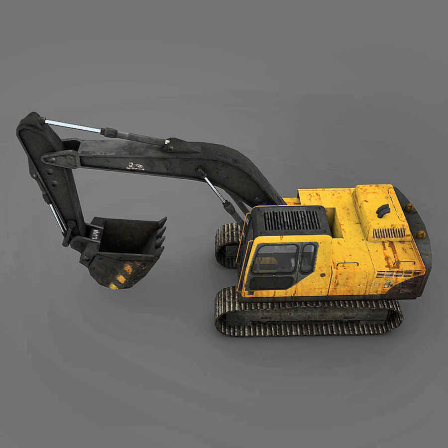 Excavator royalty-free 3d model - Preview no. 5