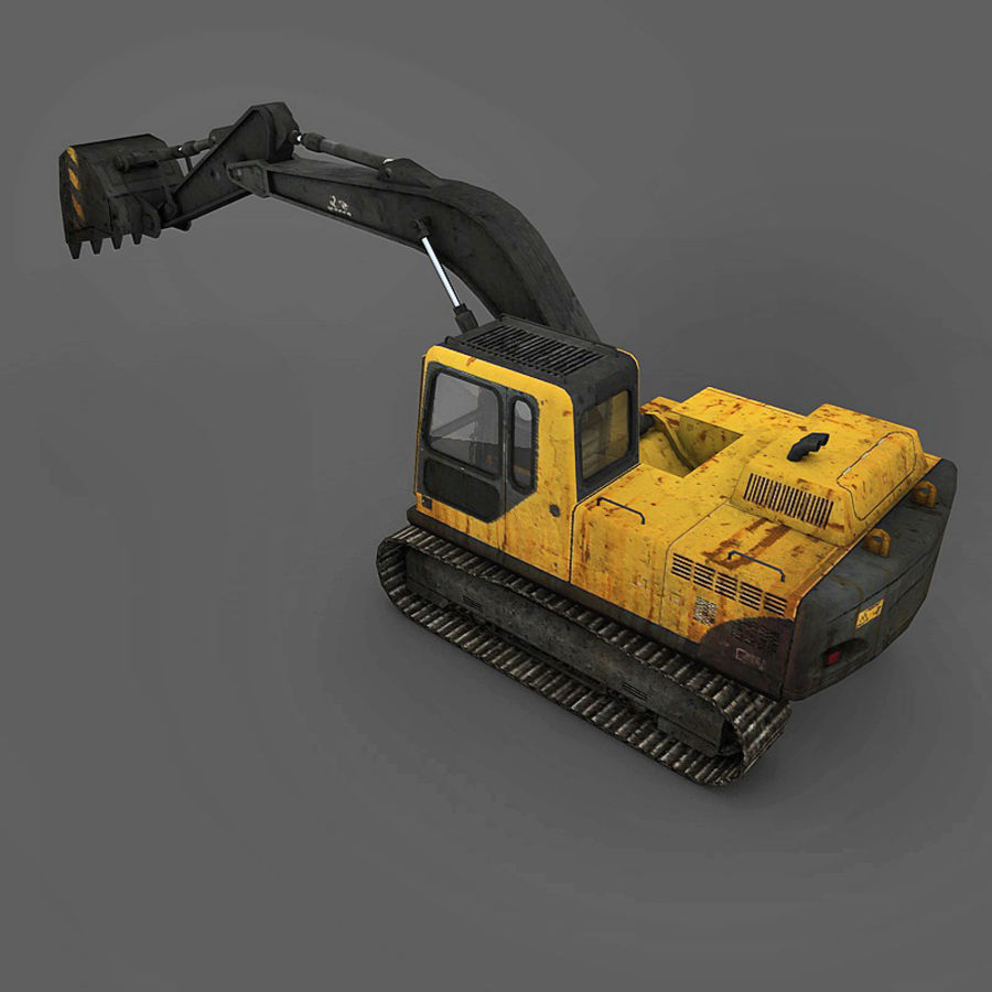 Excavator royalty-free 3d model - Preview no. 8