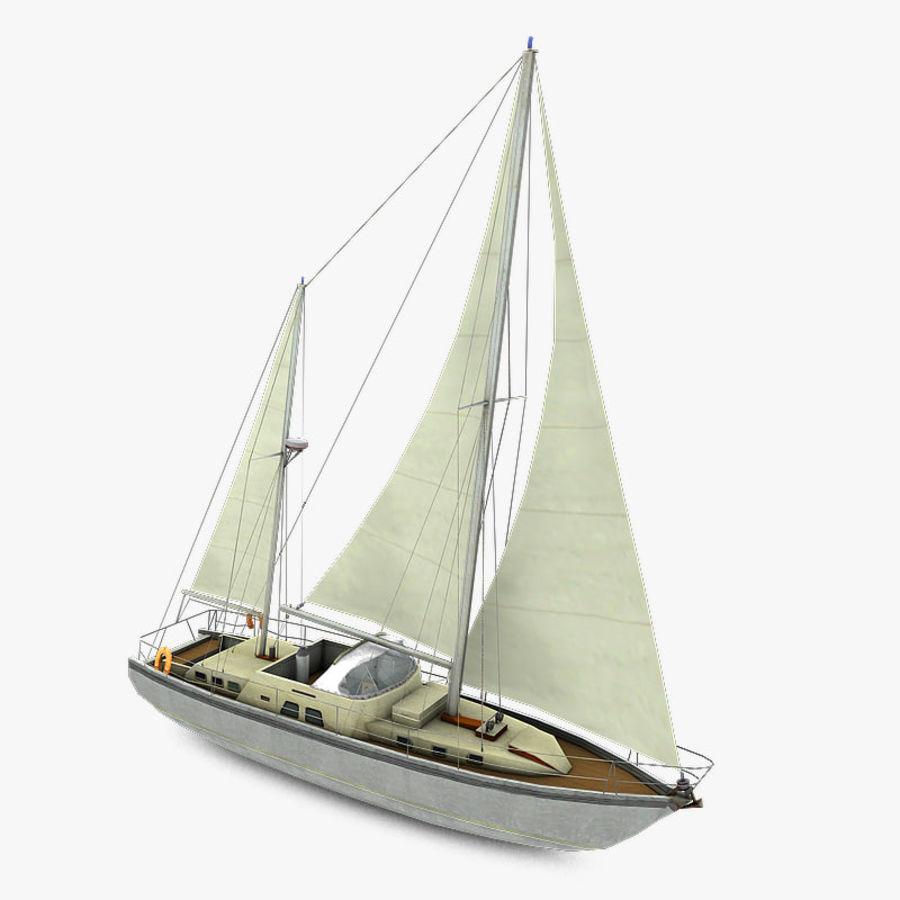 Sailboat royalty-free 3d model - Preview no. 1