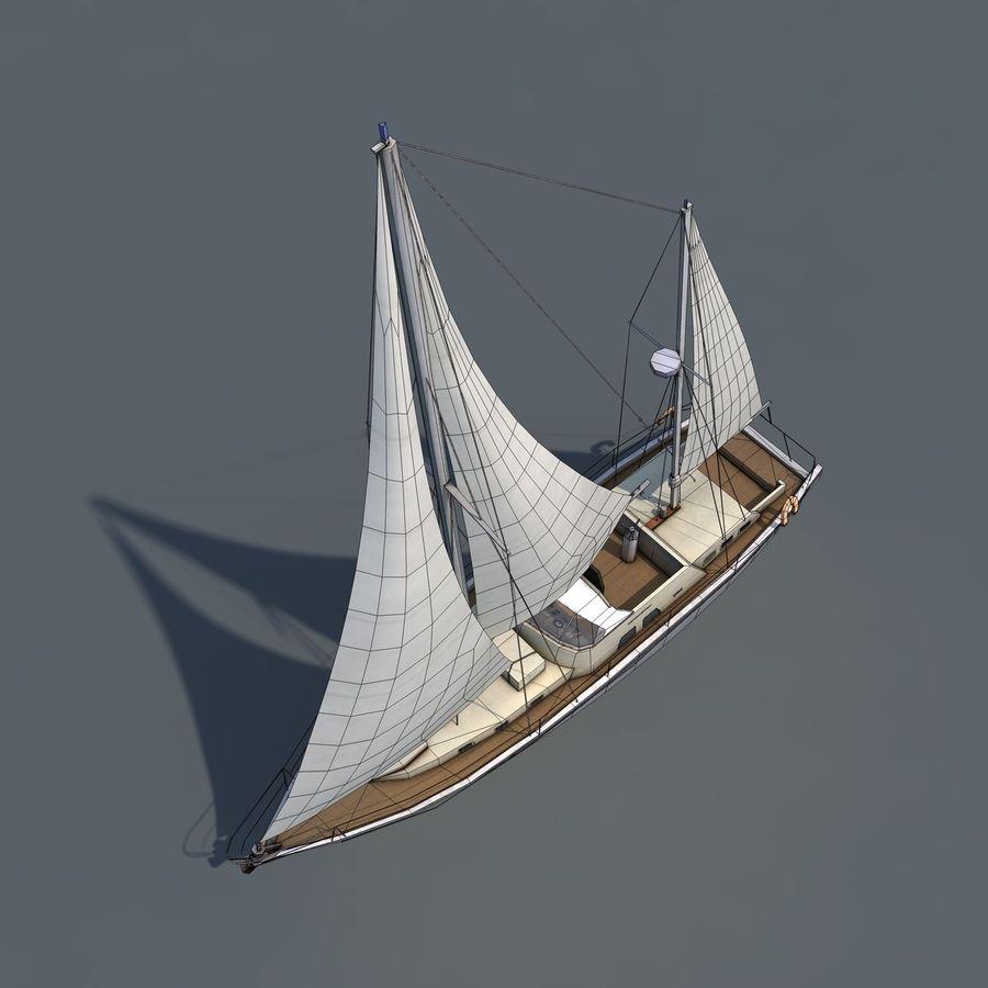 Sailboat royalty-free 3d model - Preview no. 12