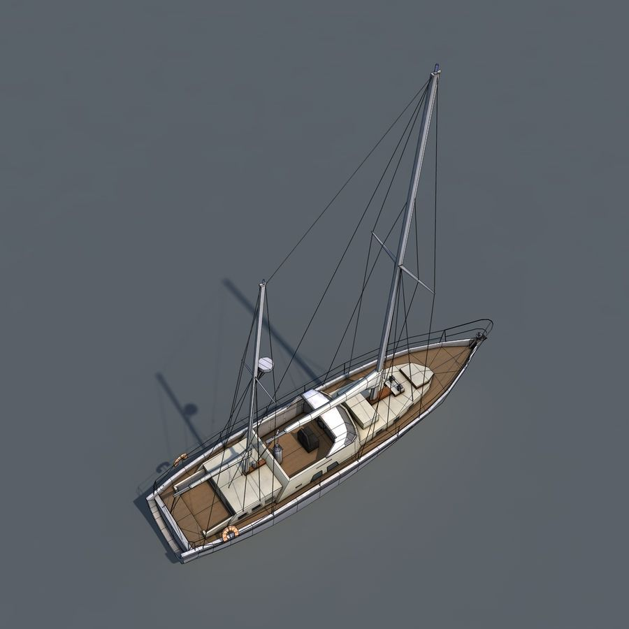 Sailboat royalty-free 3d model - Preview no. 13