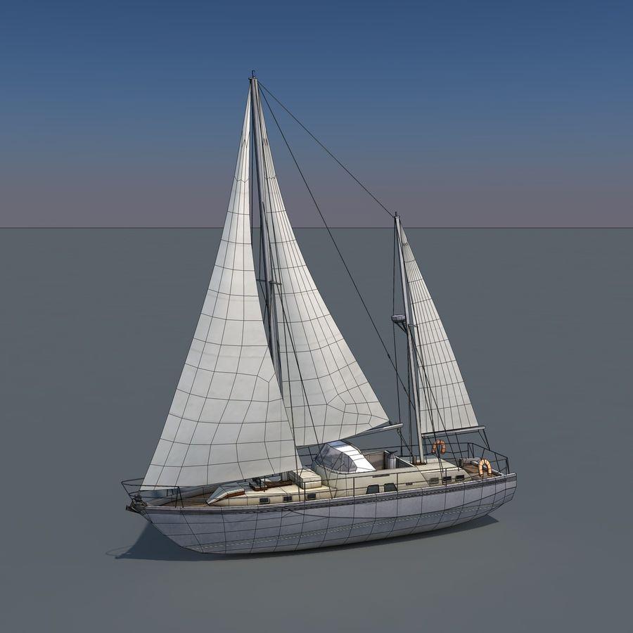 Sailboat royalty-free 3d model - Preview no. 9