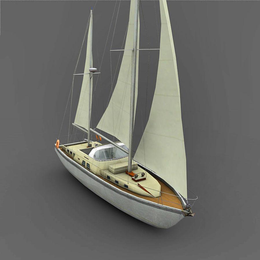 Sailboat royalty-free 3d model - Preview no. 5