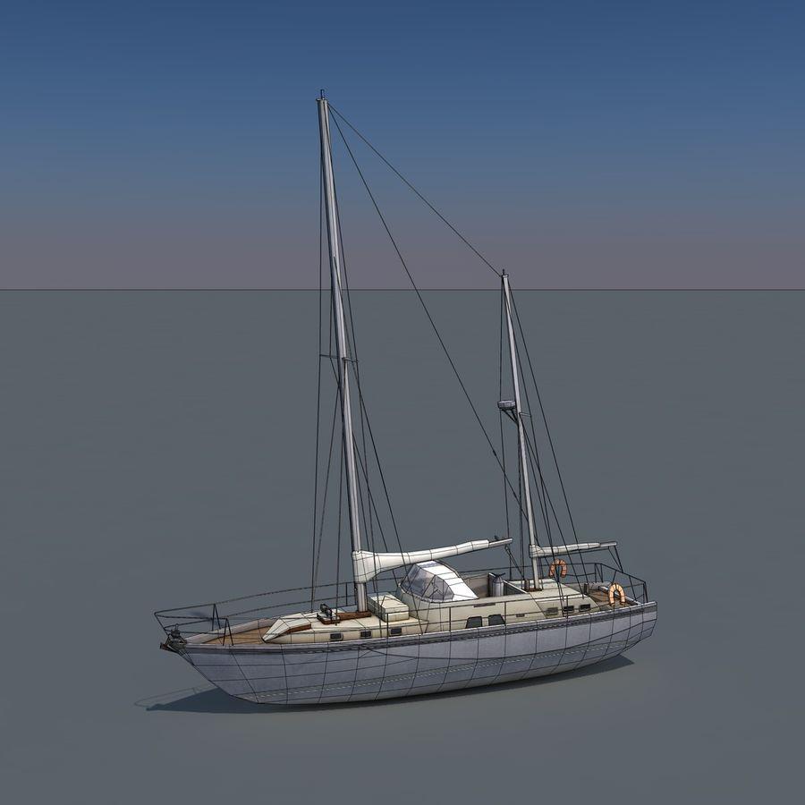 Sailboat royalty-free 3d model - Preview no. 10
