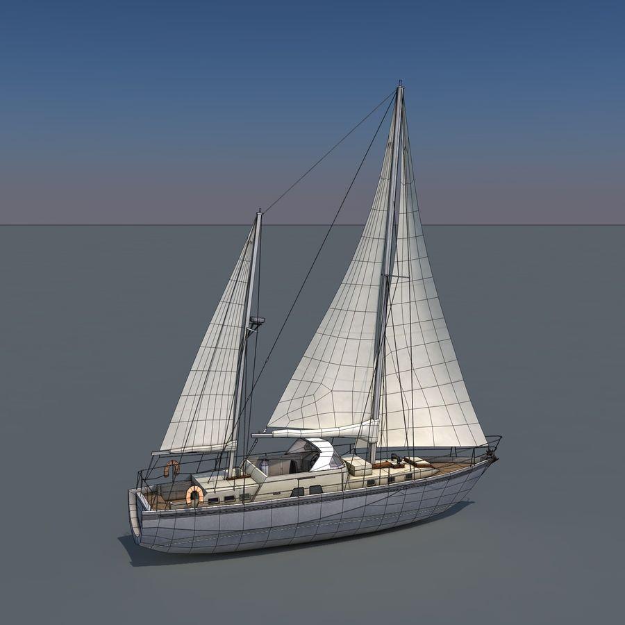 Sailboat royalty-free 3d model - Preview no. 11