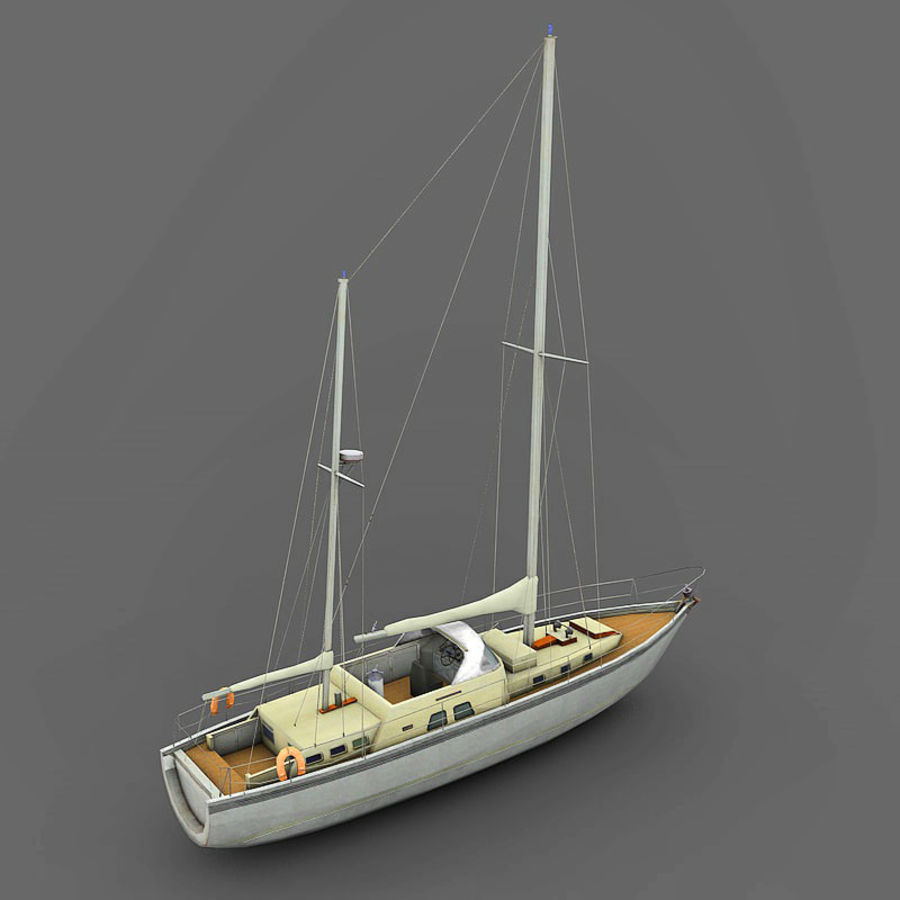 Sailboat royalty-free 3d model - Preview no. 8