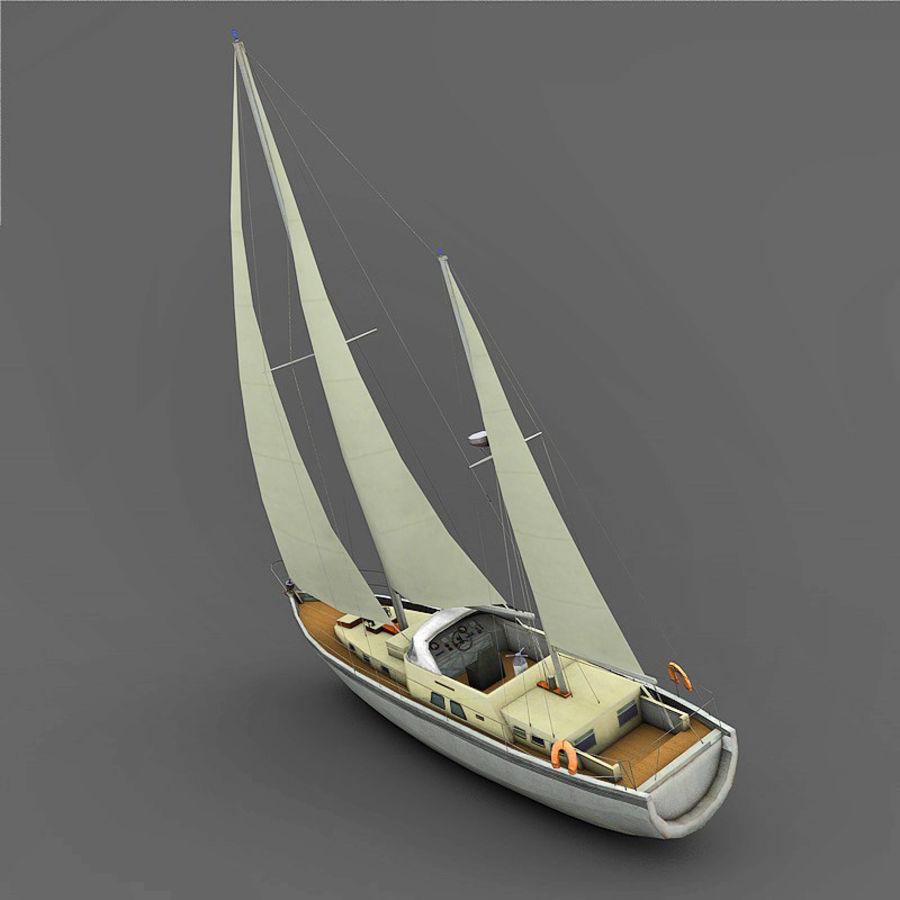 Sailboat royalty-free 3d model - Preview no. 3