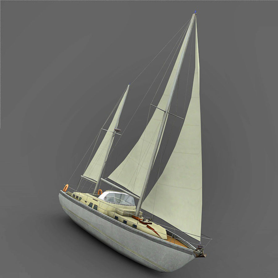 Sailboat royalty-free 3d model - Preview no. 7