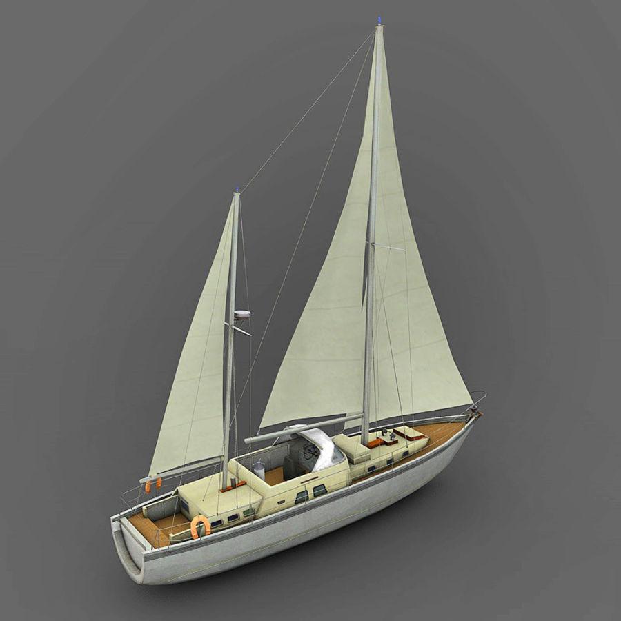Sailboat royalty-free 3d model - Preview no. 2