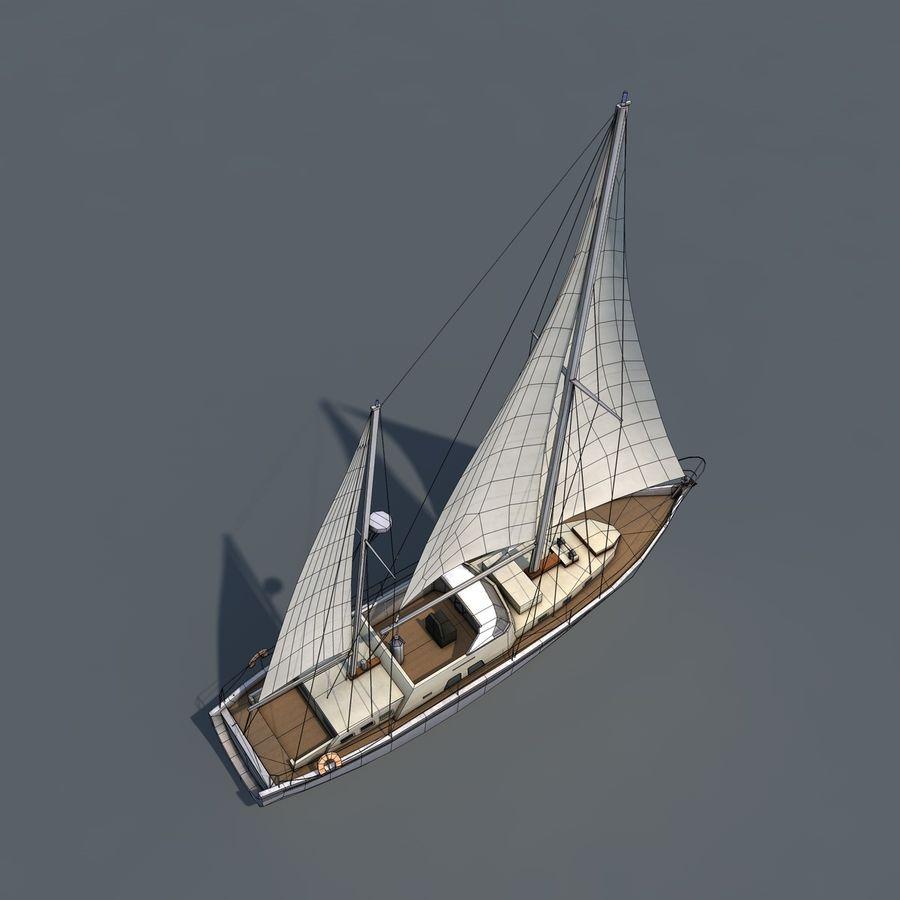 Sailboat royalty-free 3d model - Preview no. 14