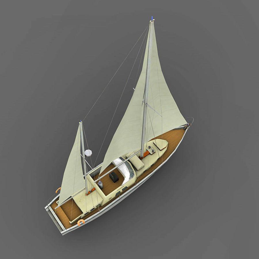 Sailboat royalty-free 3d model - Preview no. 6