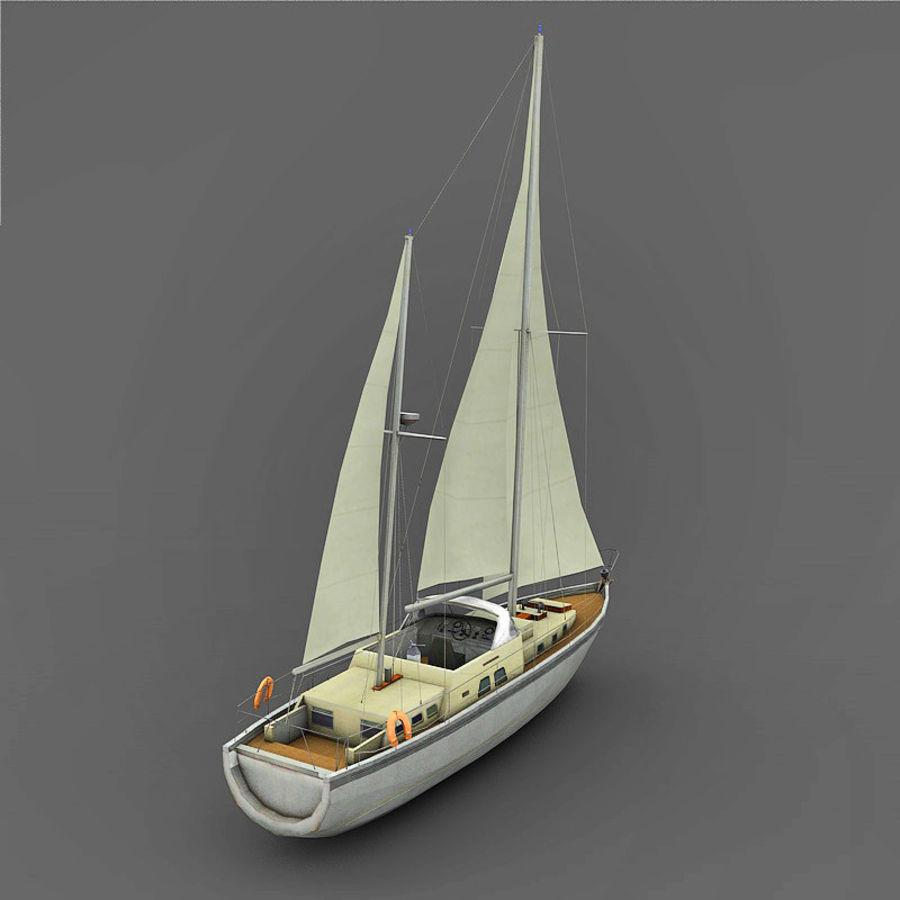 Sailboat royalty-free 3d model - Preview no. 4