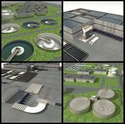 Estações de tratamento de água e esgoto 3d model