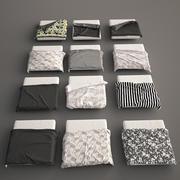 Säng filt och täcker Set 3d model