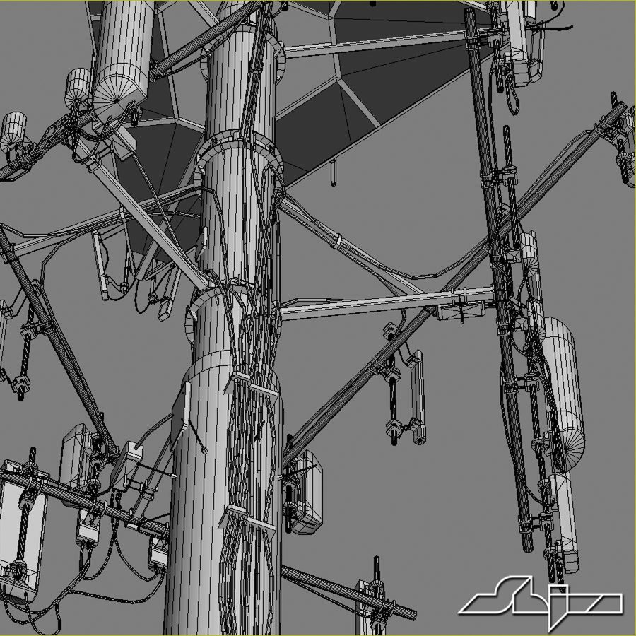 Communication Antena 3 royalty-free 3d model - Preview no. 10