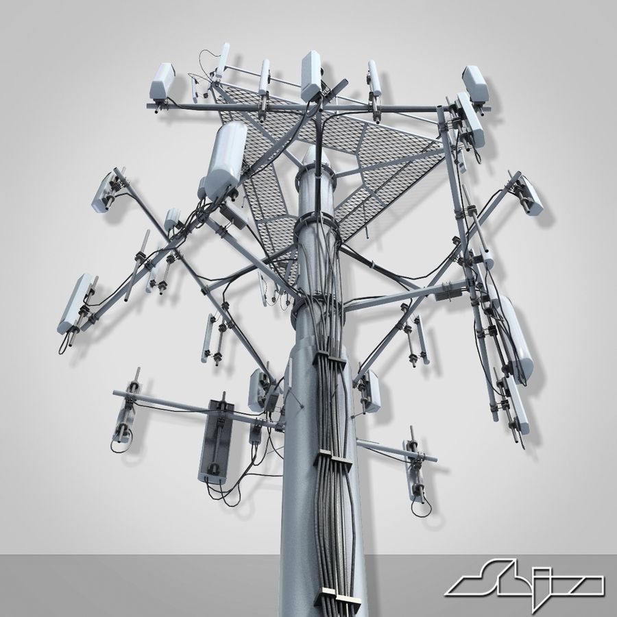 Communication Antena 3 royalty-free 3d model - Preview no. 5