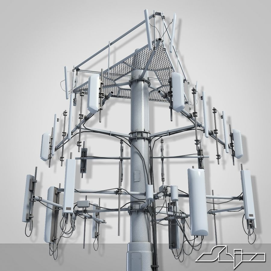 Communication Antena 3 royalty-free 3d model - Preview no. 3