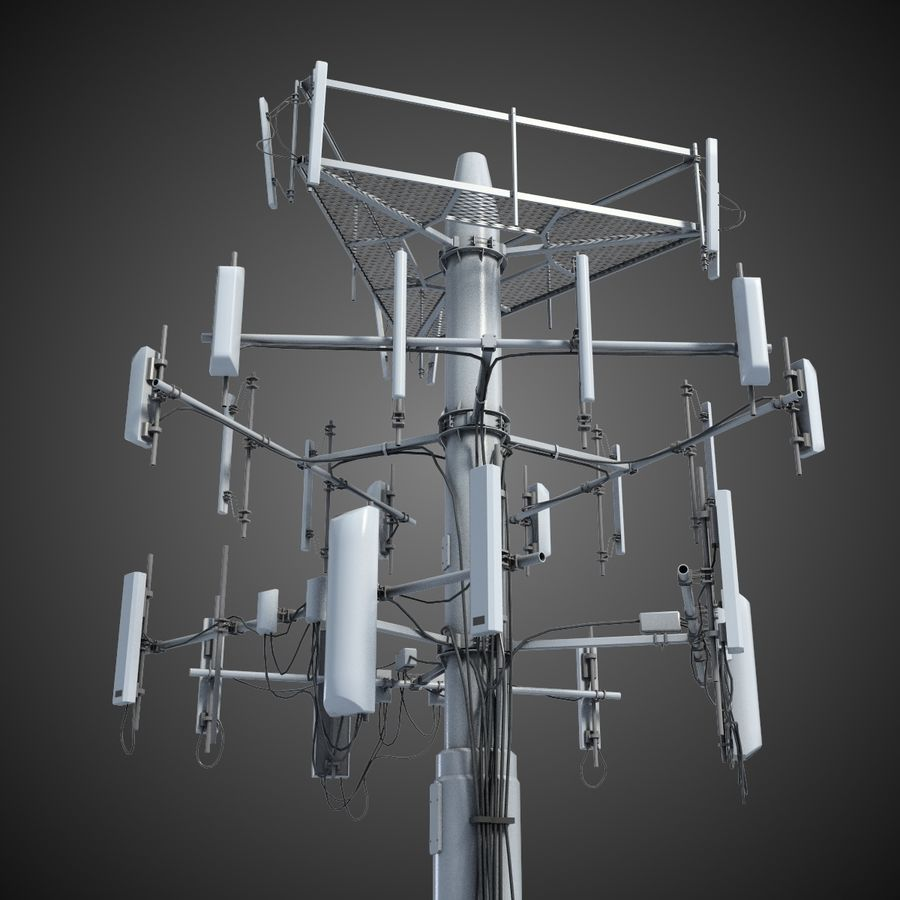 Communication Antena 3 royalty-free 3d model - Preview no. 2